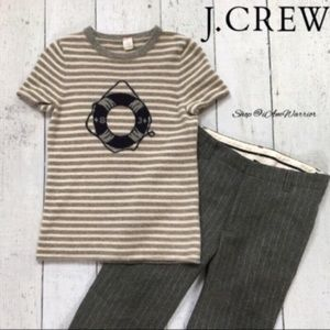 J. Crew cashmere nautical short sleeve sweater